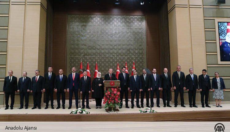 Erdogan unveils his new cabinet
