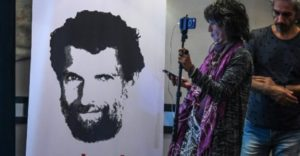 A picture showing Turkish philanthropist Osman Kavala.