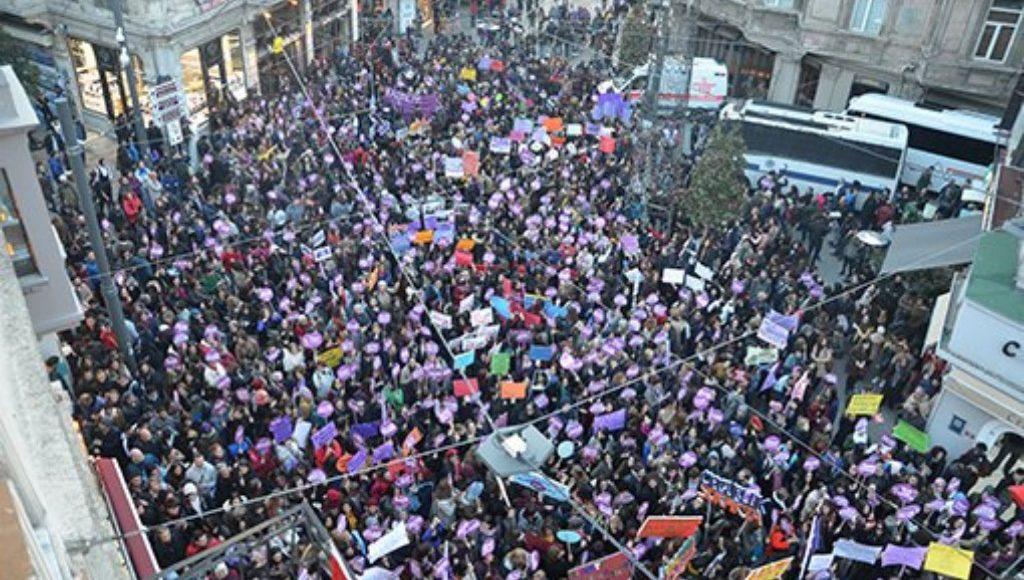 Women's march in Turkey.